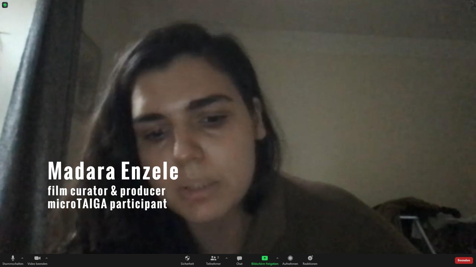 still from a video